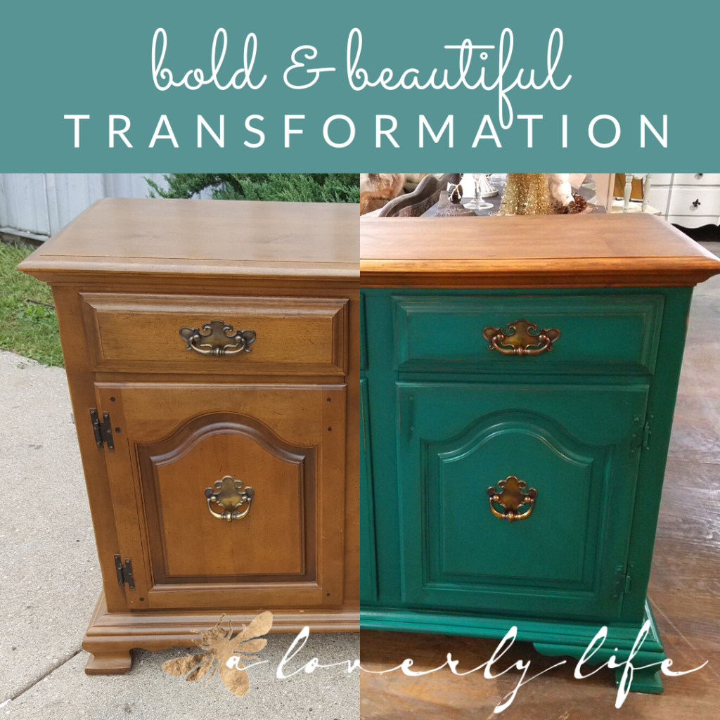 a loverly life; bold; beautiful; makeover; details; bold and beautiful transformation; DIY; furniture painting; fusion mineral paint; renfrew blue; sideboard makeover