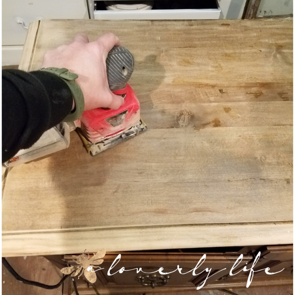 sanding, a loverly life, bold and beautiful transformation