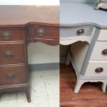 before and after furniture transformation desk