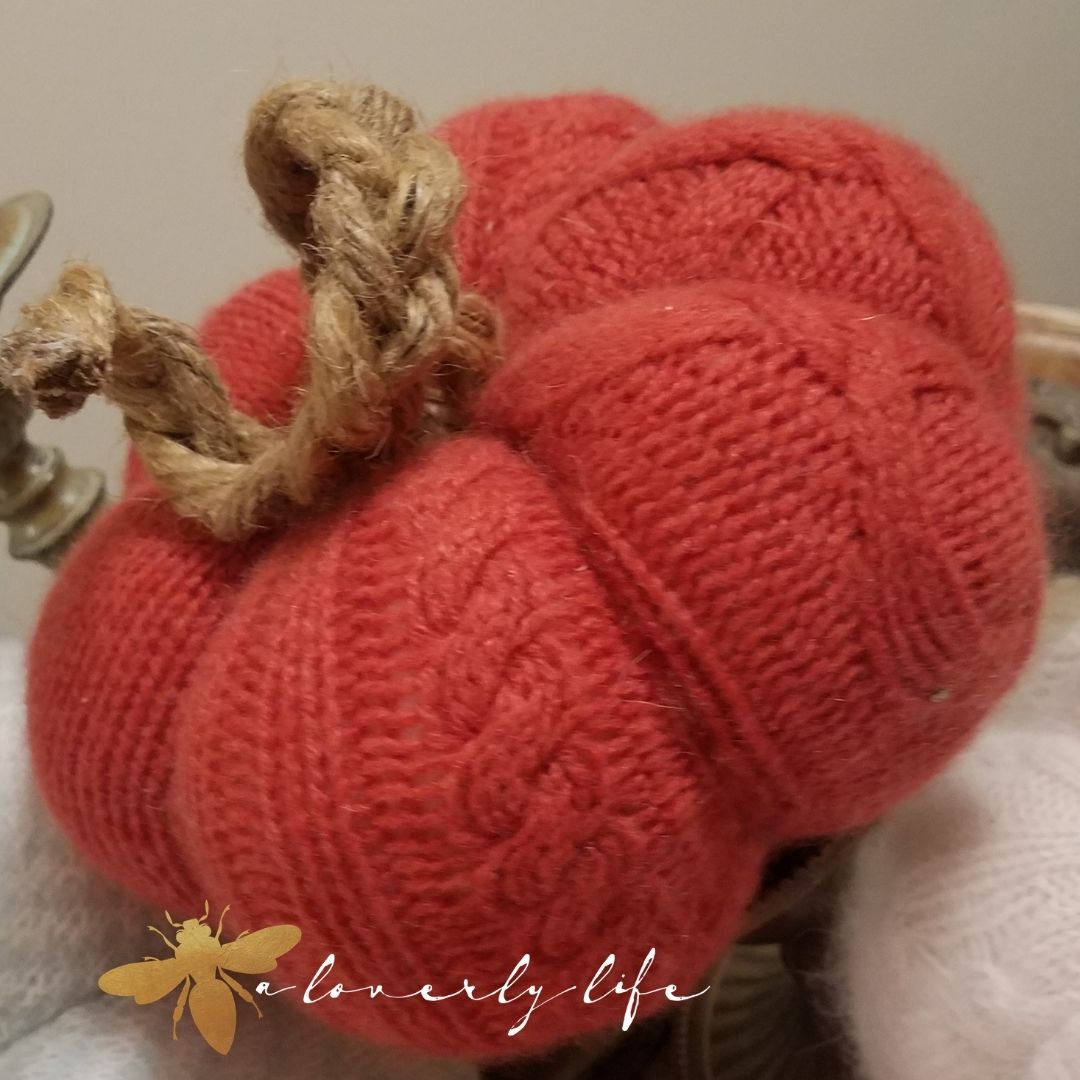 fairy tale sweater pumpkin tutorial