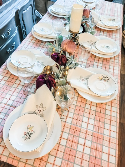 thrifty thankful tablescape