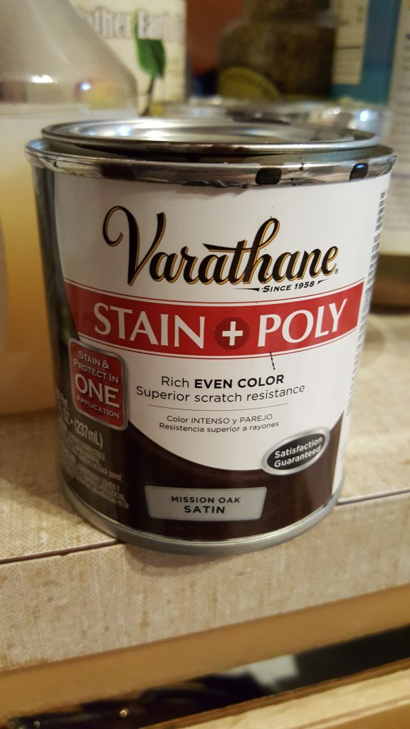 varathane stain & poly all-in-one by rust-oleum.