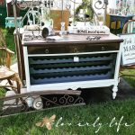 dresser transformed winerack drybar serving buffet