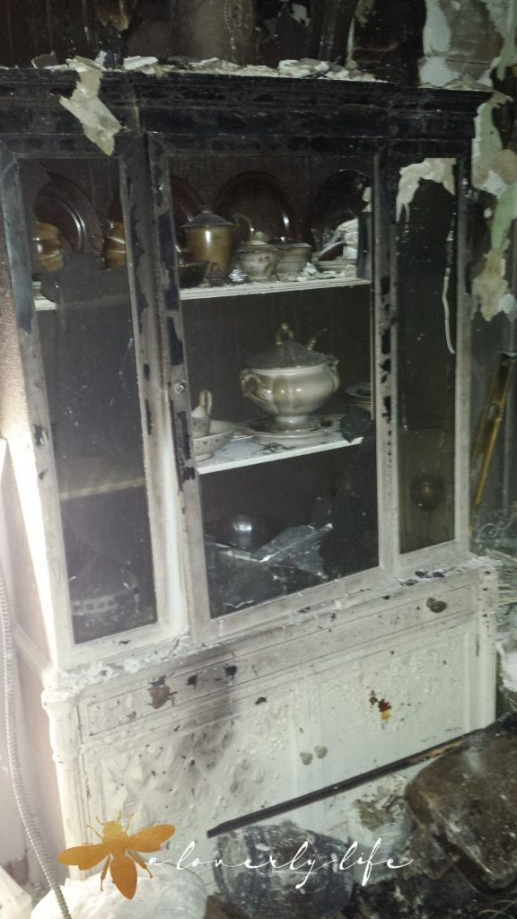 cabinet lost in a fire
