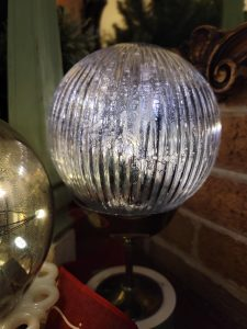 silver mercury glass orb