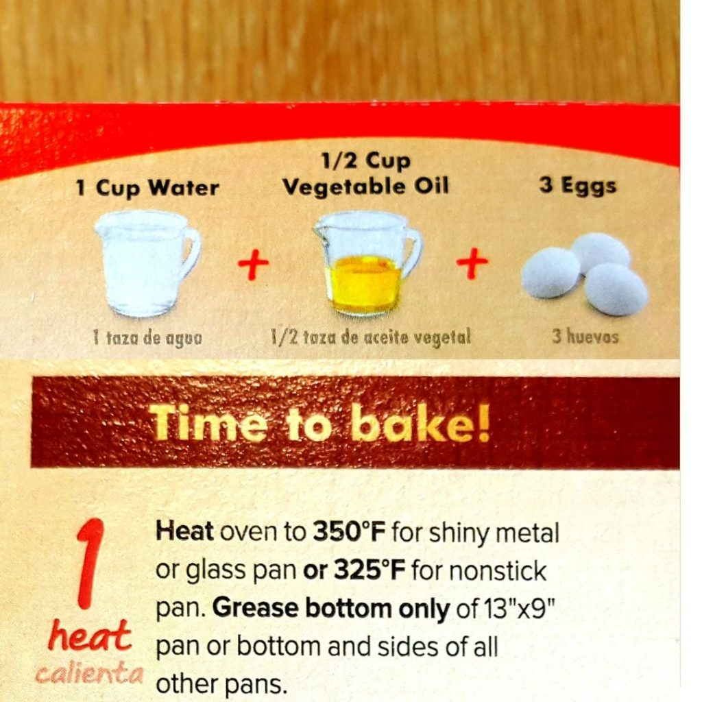 cake mix instructions for chocolate chai tea cakes