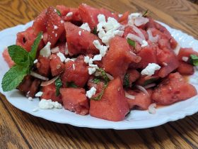 add feta for my favorite watermelon salad | A loverly life