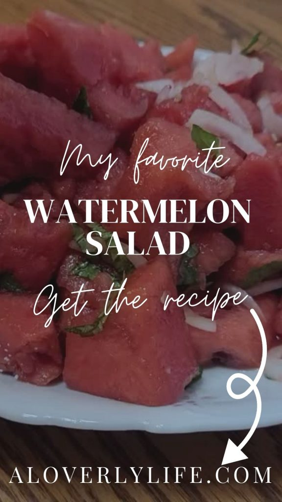 my favorite watermelon salad | a loverly life