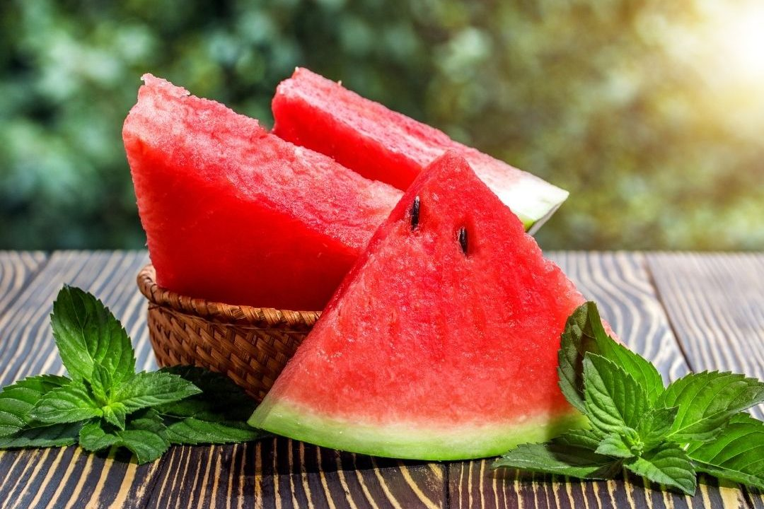 watermelon sliced for picnic
