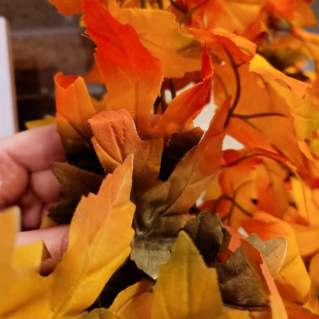 bright faux fall foliage garland