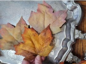 test leaves muted faux fall foliage DIY